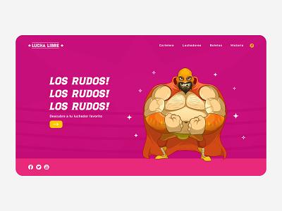 Lucha Libre ux web design luchador wrestling lucha libre ui website