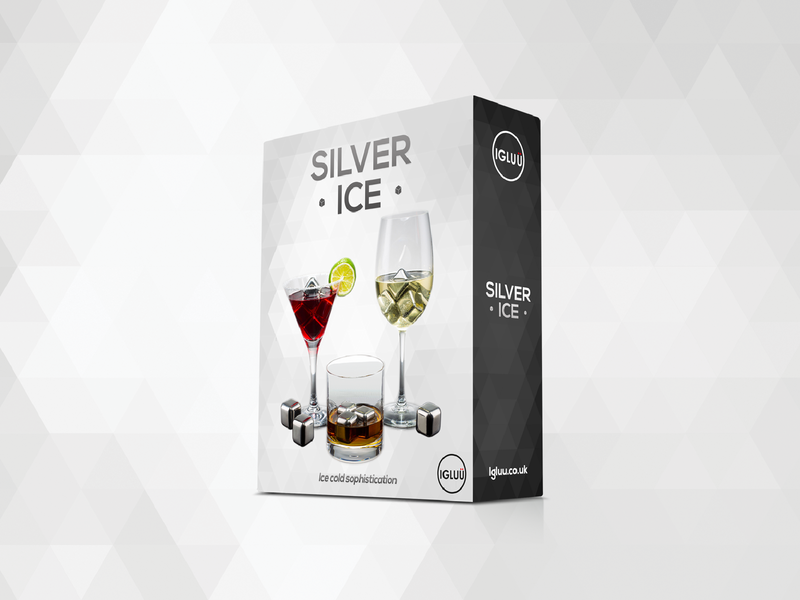 Silver Ice Packaging silver design sophisticated minimal ice elegant package design packaging