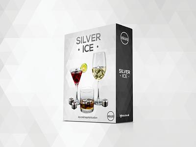 Silver Ice Packaging silver design sophisticated minimal ice elegant package design packaging