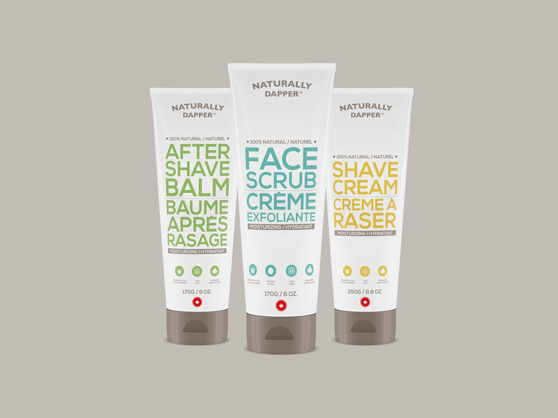 Naturally Dapper Packaging package design design minimal cream package packaging