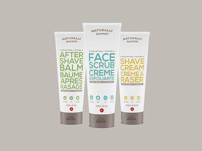Naturally Dapper Packaging package design design minimal cream package packaging