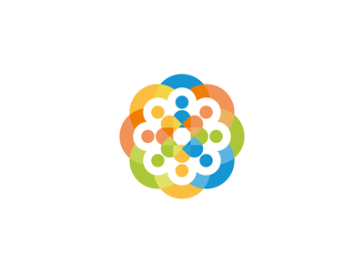 Migration Info Centre minimal design people colorful branding centre migration finland tampere logo