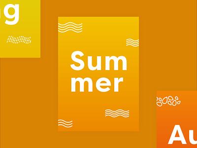 Summer poster design vector graphic design gradient minimal poster