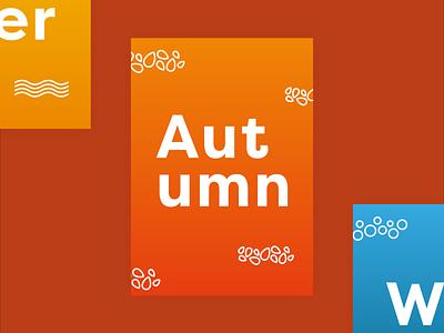 Autumn poster design poster art typography illustration gradient vector minimal design