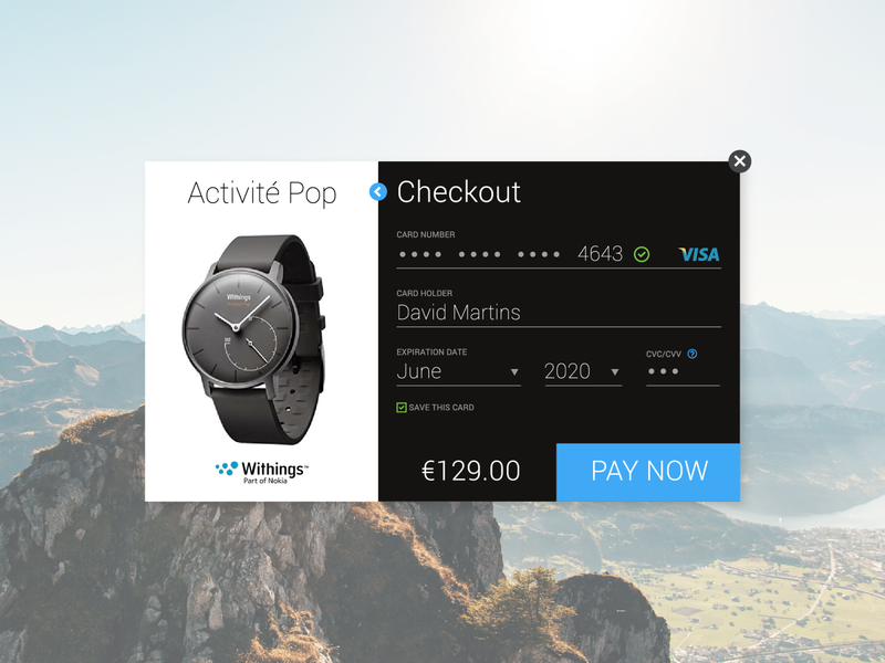 Weekly UI - Checkout watch credit card checkout ui ux daily ui