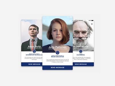 Weekly UI - User Profile finland tampere design university user profile ui ux dailyui