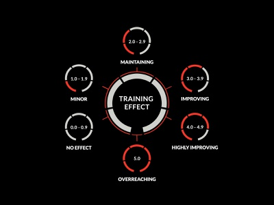 Firstbeat - Training Effect instructions minimalist design vector infographic sports