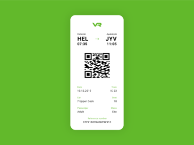 Train Boarding Pass