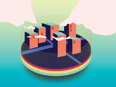 City illustration ai vector building design adobe illustrator cc