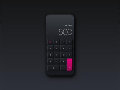 Neomorphism Calculator Design 004
