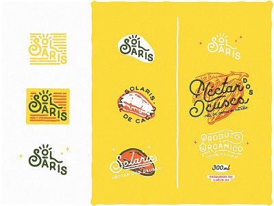 Solaris • Néctar de Cacau cocoa gourmet logo food graphics visual identity lowpro branding