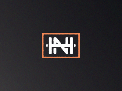 HN Monogram monogram branding brand graphic identity weight crossfit gym logo