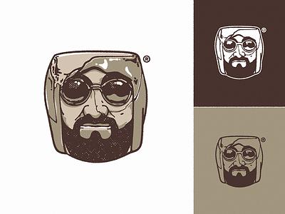 Broken Ashtray logo | MBMB apparel face illustration identity graphic icon head logo