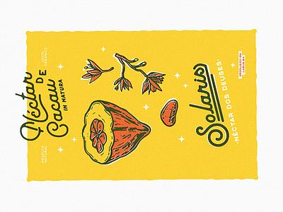 Solaris Riso Print identity branding tropical cocoa botanical grainy graphic riso print