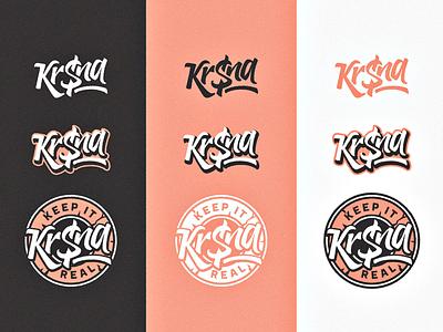 KR$NA ID lettering type graphic branding desi hop hip trap identity tag rap logo