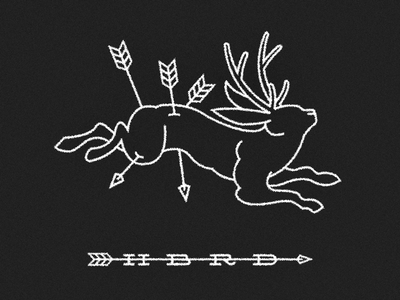 Coletivo Híbrido classic branding western line logo collective jackalope identity hbrd