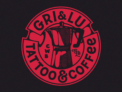 Gri & Lu | Tattoo & Coffee bold apparel shop tattoo coffee classic heavy logo graphic emblem