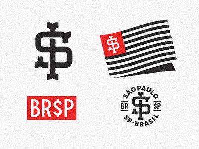 ID for BR$P logo identity skateboard flag monogram sp streets branding