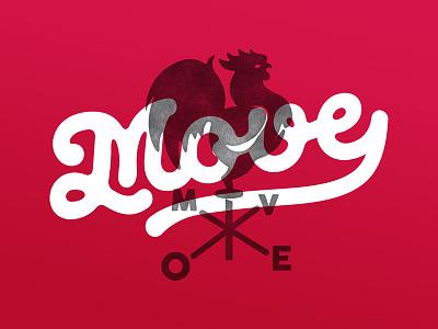 Move MKT flow wind rooster symbol logotype logo mkt agency graphic design identity
