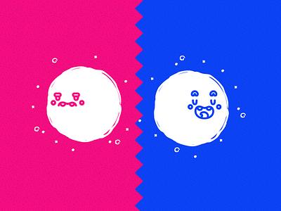 Two Faces Mood emotion sad smile characterdesign vectordesign dribbble illustration face mood