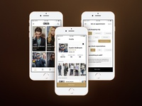 Proffesional fashion consultance booking app design