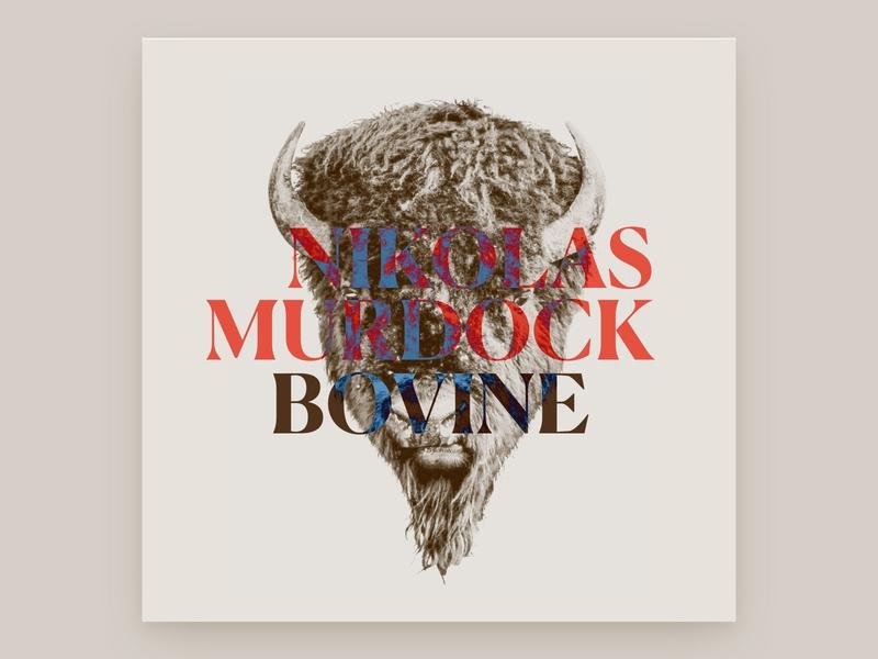 Bison Cover Art beige cover art graphic design bison indie folk album cover design album cover album artwork album art