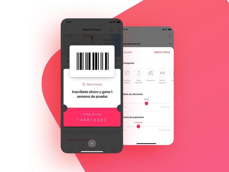 Coupon Barcode and Filters redeem redeem coupon categories filters social marketing barcode coupon code coupon