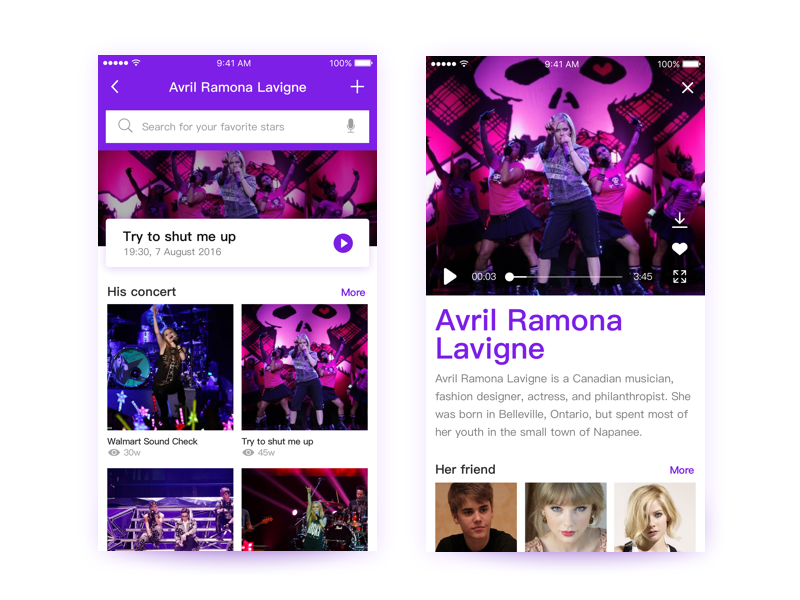 Music video interface practice by Neo   Dribbble   Dribbble