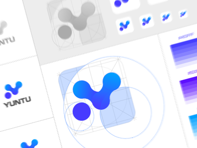 Logo design distortion graphical variant letter design mac pixels blue specification gradient data logo