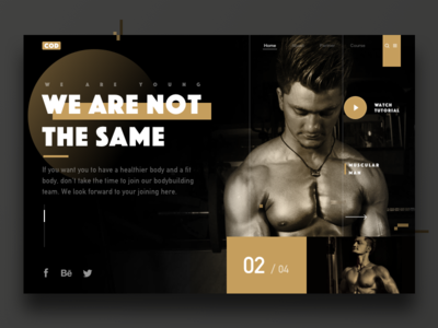 Spare-time webpage exercises muscle fitness web ui ue typesetting society passion movement
