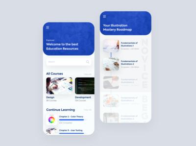 Online Learning Platform design ux uiux ui mobile app edtech education