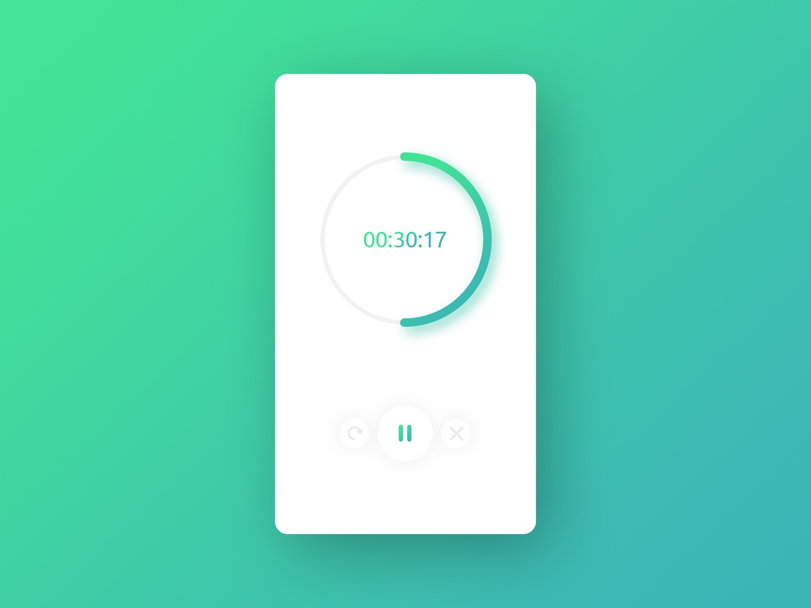 Daily UI Challenge 014 - Countdown Timer timer stopwatch counter app design challenge vx dailyui ux ui