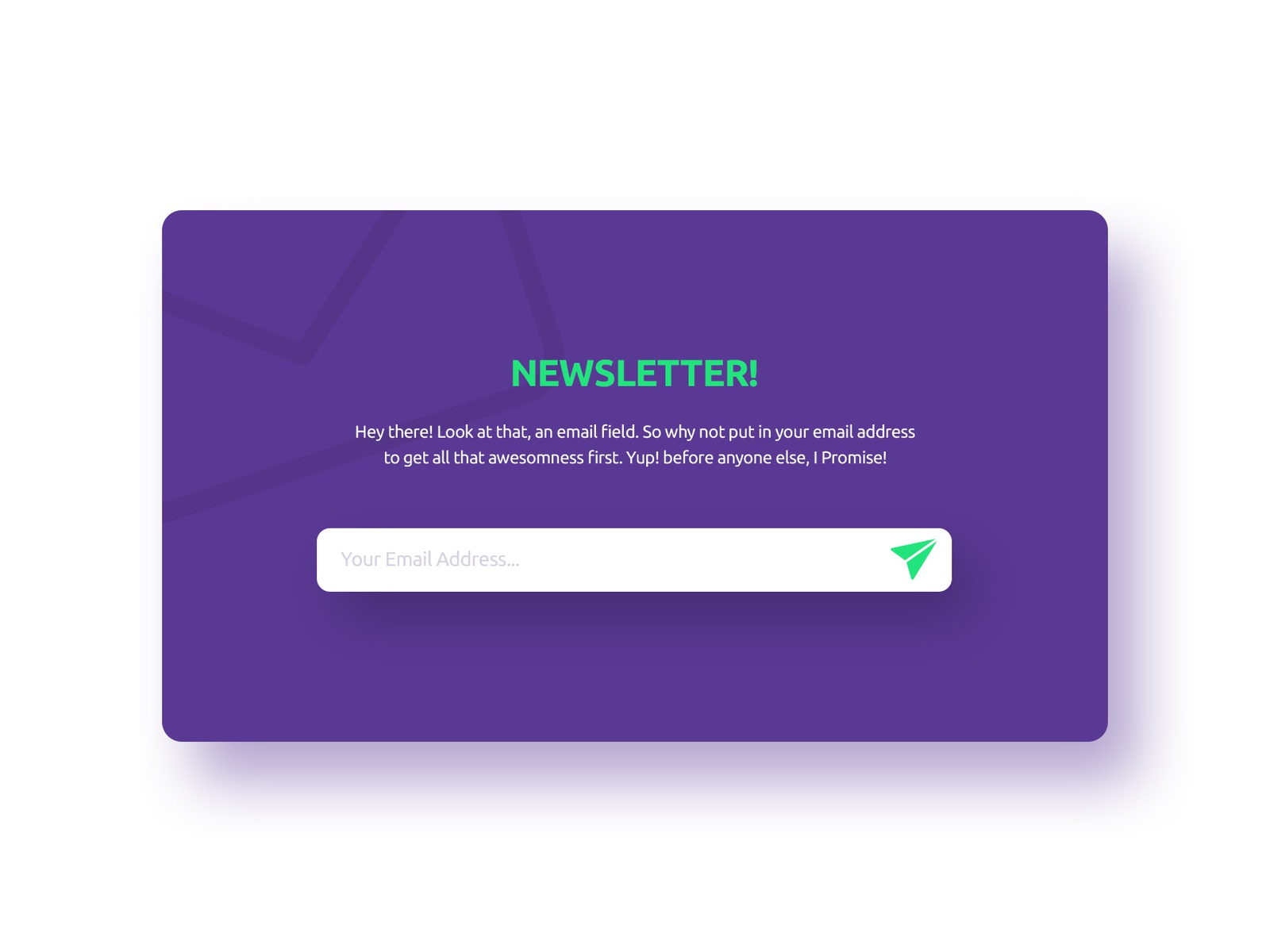 Daily UI Challenge 016 - Pop up/ Overlay email newsletter overlay pop up app design challenge vx dailyui ux ui