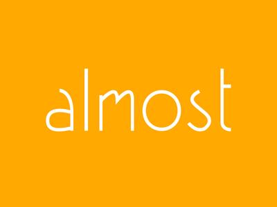 Almost logotype