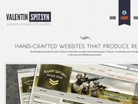 Own Website re-Design (several fullscreen shots)