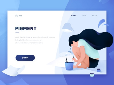 Pigment illustration design vector