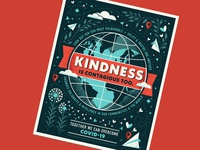 kindness is contagious too pandemic inspirational globe kindness coronavirus covid-19