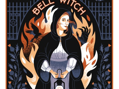 bell witch portrait ghost witch haunting haunted poster tennessee bell witch