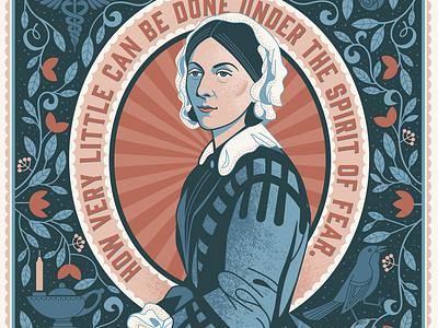 Florence Nightingale Portrait florence nightingale illustration portrait healthcare workers nurse