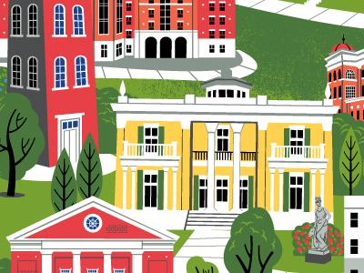 Belmont University Campus Illustration architecture belmont university nashville