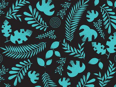 Jungle accent pattern plants repeat pattern