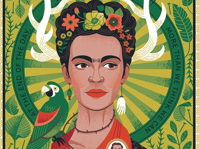 Frida Kahlo Portrait illustration portrait