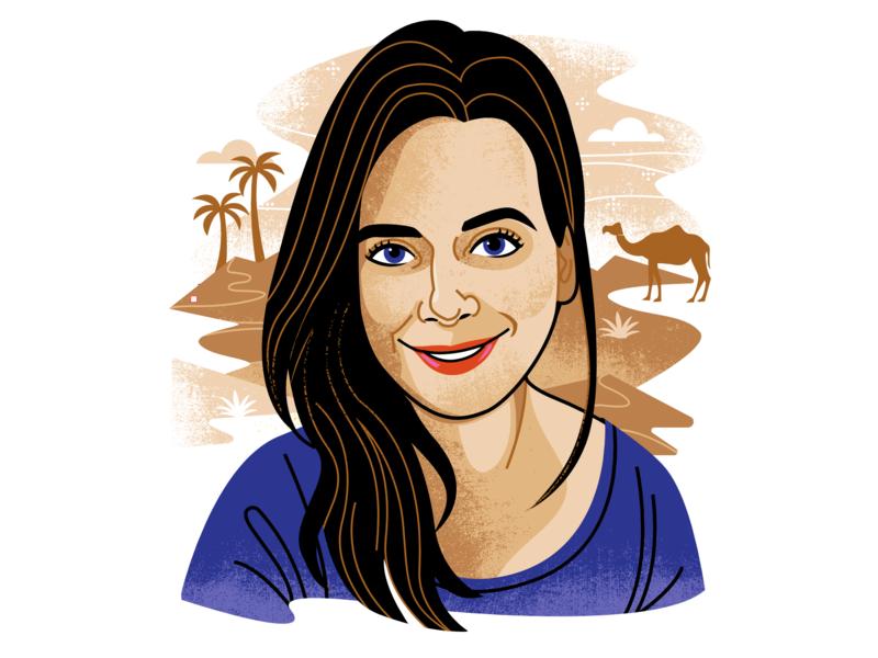 Contributor illo- Abby Tucker portrait illustration