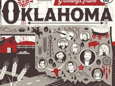 Oklahoma Ole Red Final portrait illustration portrait illustration office country music mural blake shelton oklahoma