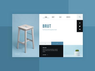 BRUT — furniture online store furniture store sketch ux web design web shop live typing ui ecommerce design