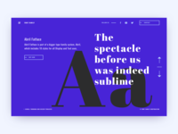 Font Family site — Main page