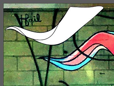 @tfail Farmhouse Mural Tattoo (work in progress) tattoo trace illustrator farmhouse mural grafitti tfail