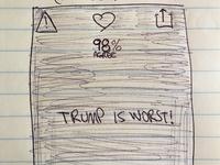 Trueey UI paper sketch