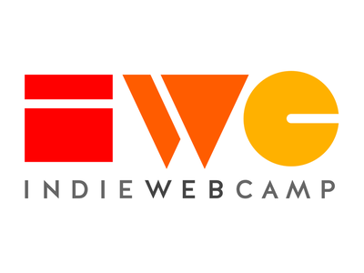 Indie Web Camp Logomark - three color golden rectangle yellow triangle red rectangle orange indiewebcamp indieweb circle