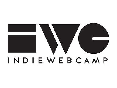 Indie Web Camp Logomark - one color golden rectangle white triangle rectangle indiewebcamp indieweb circle black